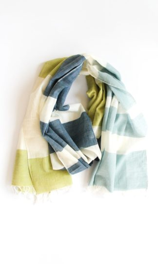 Colorblock Scarf Rover & Kin Canary Denim