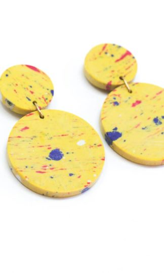 Confetti Clay Earrings Rover and Kin Fair Trade