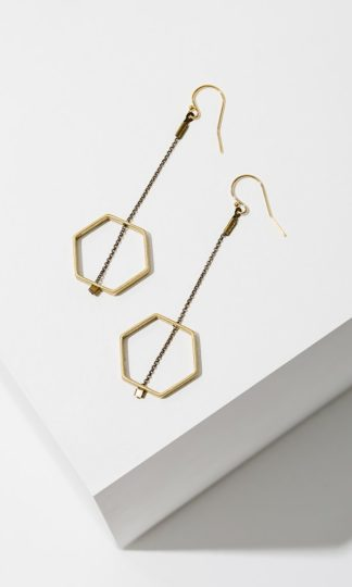 Horizon Hexagon Earrings Larissa Loden