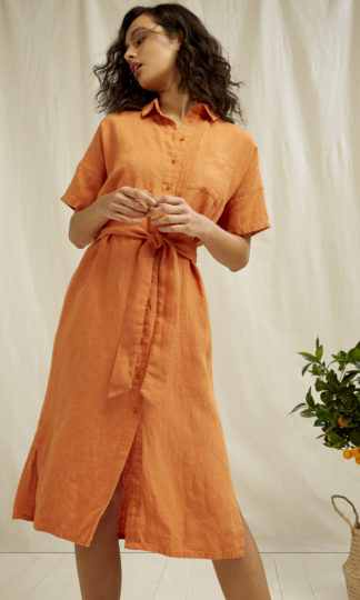 Leanora Dress Amber People Tree Fair Trade Organic