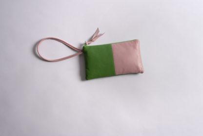 Colorblocked handmade leather wrislet Amara Felice