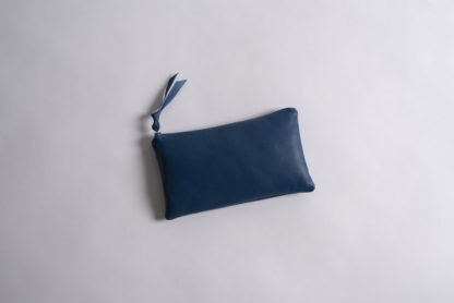 Solid Collection Handmade Large Pouch Cornflower Blue