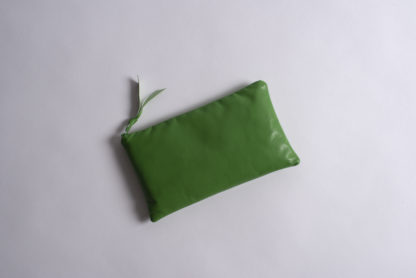 Solid Collection Handmade Large Pouch Lime