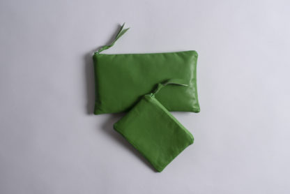 Handmade Small Leather Pouche Amara Felice Lime