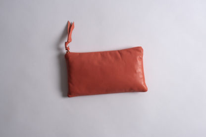 Solid Collection Handmade Large Pouch Coral