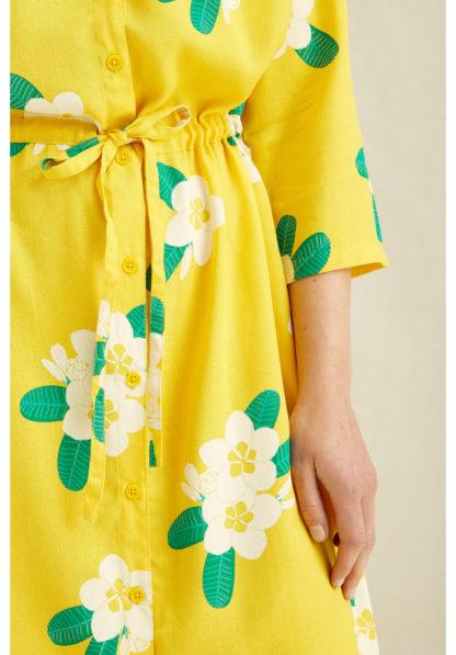 Savannah Plumeria Shirt Dress People Tree Fair Trade