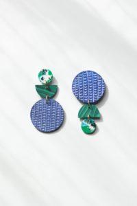 Swicheroo Clay Earrings in Rainforest Rover and Kin Fair Trade