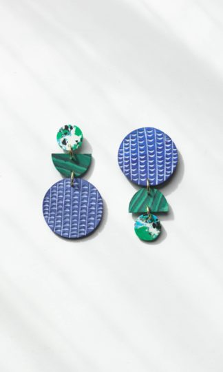 Swicheroo Clay Earrings in Rainforest Rover and Kin Fair Trade
