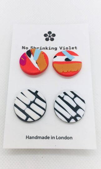 Cruella & Helsinki Stud Earring Duo No Shrinking Violet