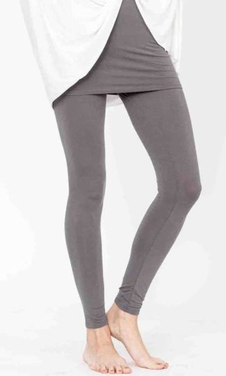 Bamboo One Piece Skirted Legging Fabina Organic Dull Grey