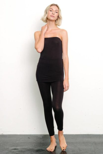 Bamboo Sleeveless Bodysuit Black