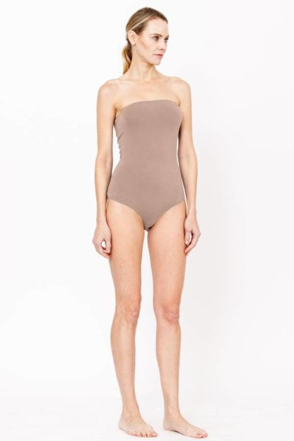 Bamboo Sleeveless Bodysuit Taupe