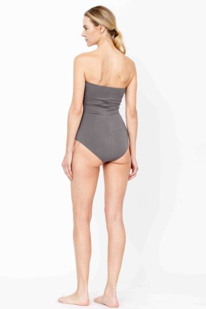 Bamboo Sleeveless Bodysuit Top Dull Grey