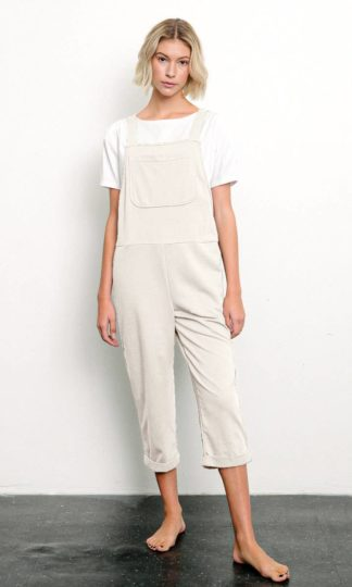 Brushed Organic Hemp Relaxed Fit Overall Fabina Banana