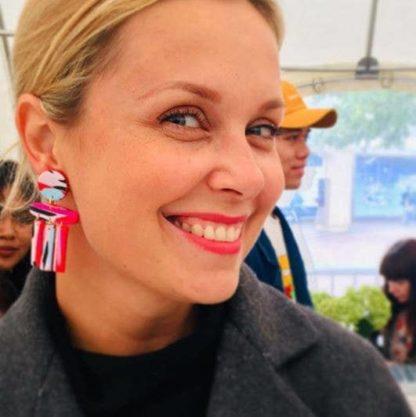 Cruella Shape Earrings No Shrinking Violets