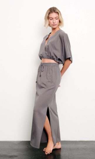 Fabina Brushed Organic Hemp Maxi Skirt