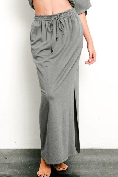 Fabina Brushed Organic Hemp Maxi Skirt