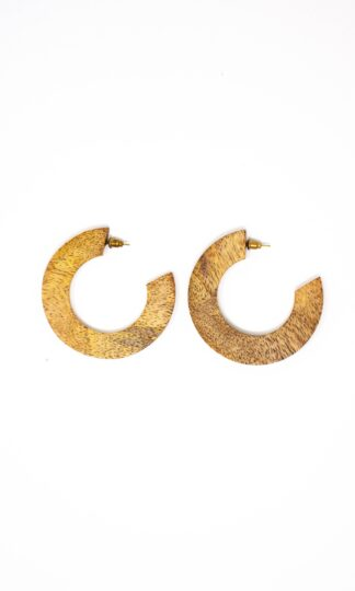 Wood Mango Statement Earrings Rover & Kin