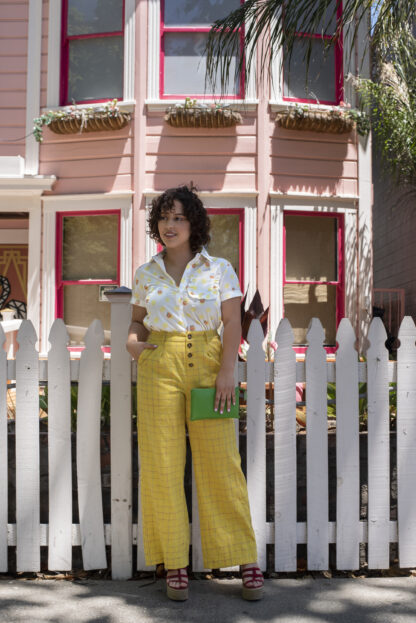The Marshall Yellow Plaid Pant Saint Geraldine