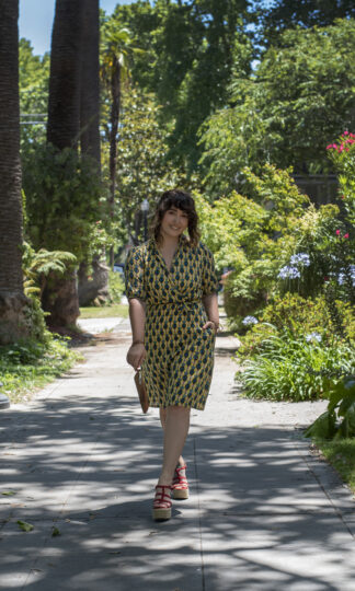 Alison Dress Saint Geraldine Palm Print Pockets