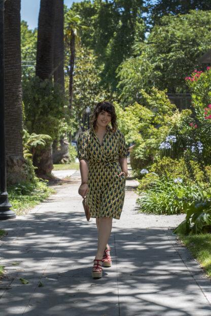 Alison Dress Saint Geraldine Palm Print Pockets