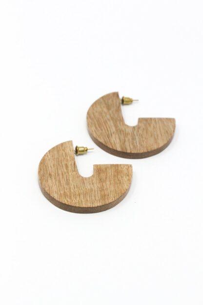 Wood Disc Earrings Rover & Kin