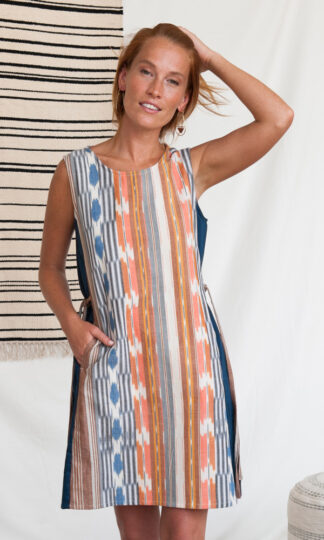 Dakota Rainbow Ikat Dress Mata Traders Fair Trade