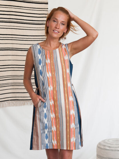 Dakota Rainbow Ikat Dress Mata Traders Fair Trade