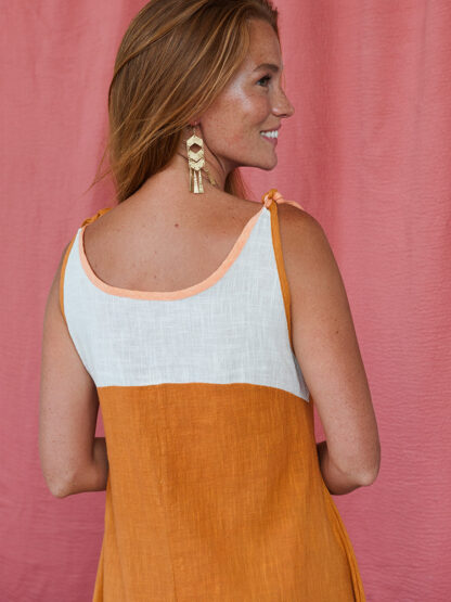 dress_stevie swing_ochre_mata traders fair trade