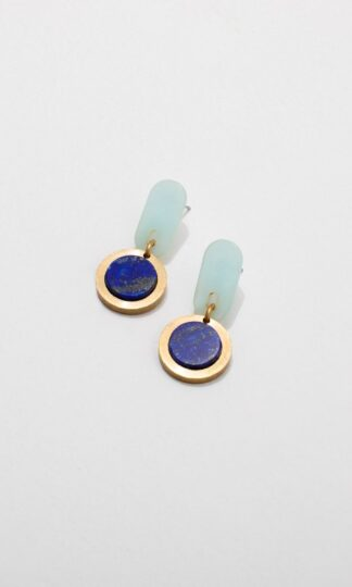 Ruth Earrings Larissa Loden Blue and Lapis