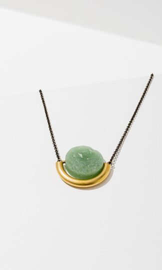 Sun and Moon Necklace Larissa Loden Green Aventurine