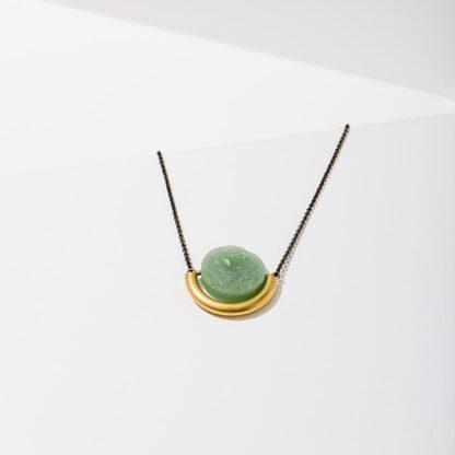 Sun and Moon Necklace Larissa Loden Green Aventurine