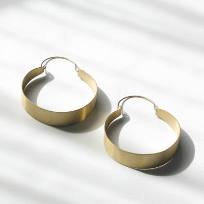 Brassy Statement Earrings Rover & Kin