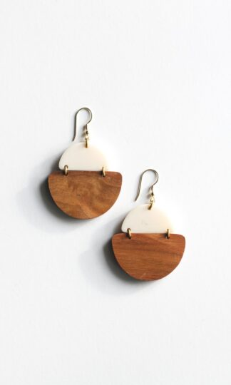 Mod Wood Earrings Rover & Kin