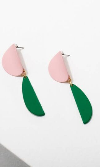 Yayori Earrings Larissa Loden Pink & Green