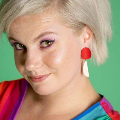 Yayori Earrings Larissa Loden Red & Pink