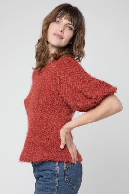 Cameo Chakra Chenille Sweater Henna
