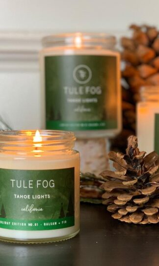 Tahoe Lights Soy Candle Tule Fog