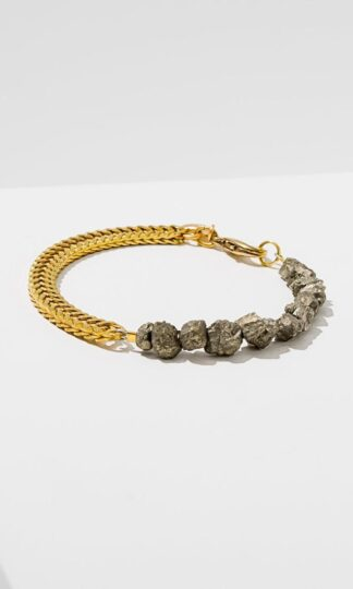 Two Part Pyrite Bracelet Larissa Loden