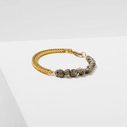 Two Part Pyrite Bracelet Larissa Loden