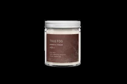 Amber + Cedar Soy Candle Tule Fog