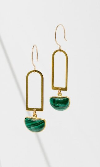 Casablanca Malachite Earrings Larissa Loden.