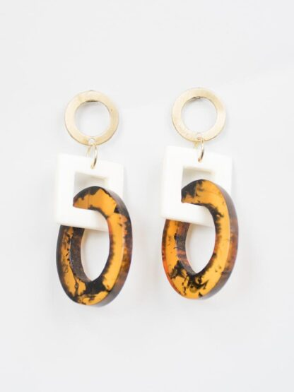 Priyanka Tortoiseshell Earrings by Mata Traders