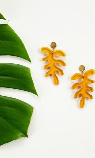 Matisse Leaf Earrings Mata Traders