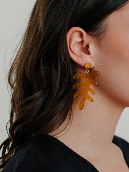 Matisse Leaf Earrings Mata Traders