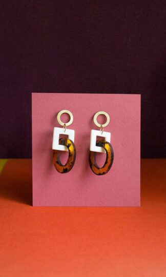 Priyanka Tortoiseshell Earrings by Mata Traders