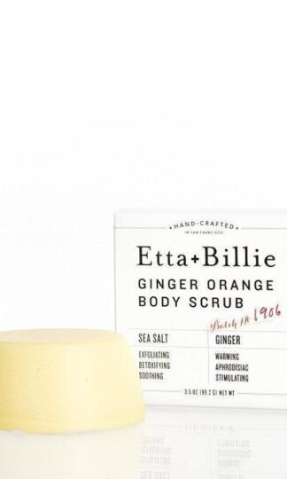 Ginger Orange Sea Salt Scrub Bar Ettie + Billie