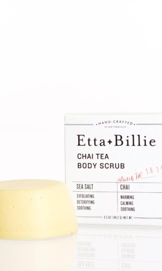 Chai Tea Sea Salt Scrub Bar Etta + Billie