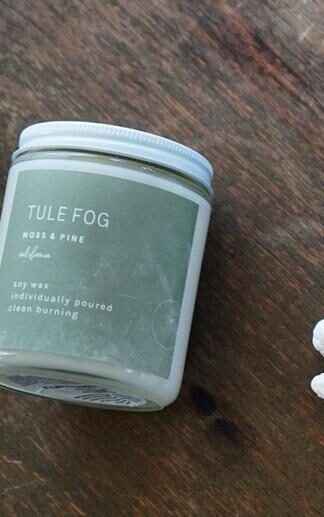 Moss + Pine Soy Candle Tule Fog