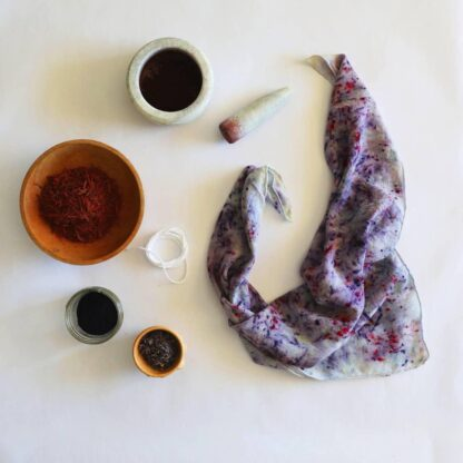Naturally Dyed Confetti Scarf Cosmic